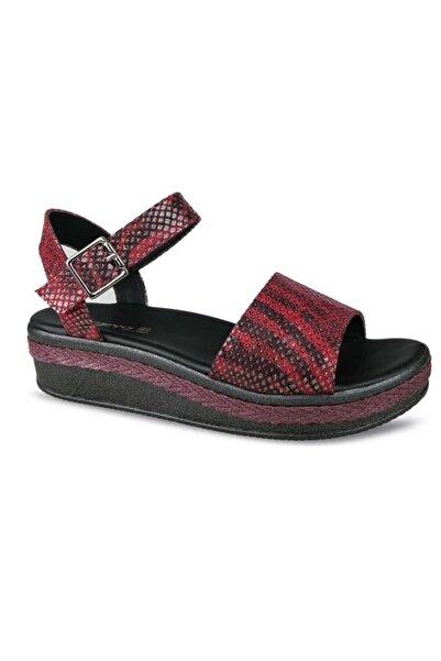 Ceyo Bordo Kadın Sandalet