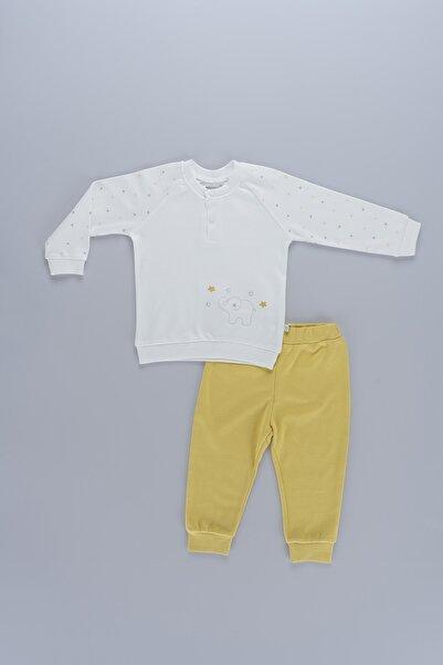 Bibaby Fil Desenli Unisex Bebek 2li Organik Takım 59532