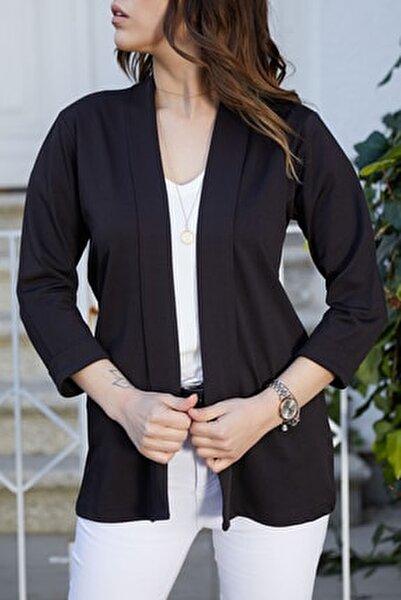 Kadın Siyah Duble Kol Ceket 9KXK4-40607-02