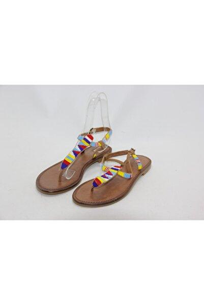 İnci Kadın Renkli Sandalet