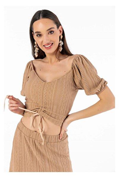 Tiffany A0272 Büzgülü Tormenta Takım Bluz