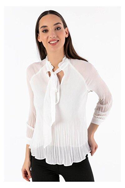 Tiffany A0239 Boyundan Baglamalı Bluz