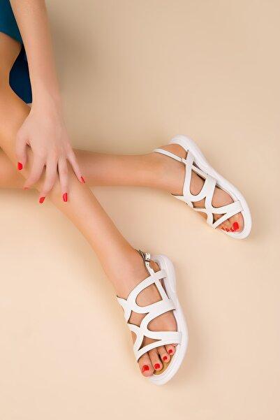 SOHO Beyaz Kadın Sandalet 15112