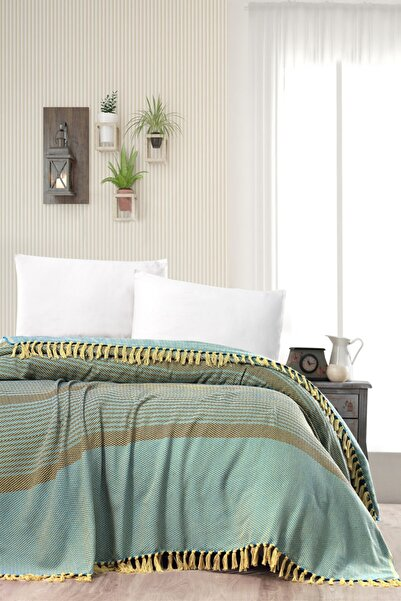 Evim Home %100 Pamuk İplik Boya Pike Yatak Örtüsü