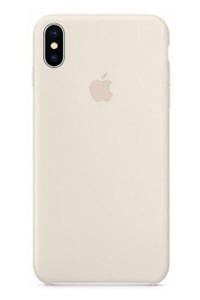 Ebotek Apple Iphone X Silikon Kılıf Krem