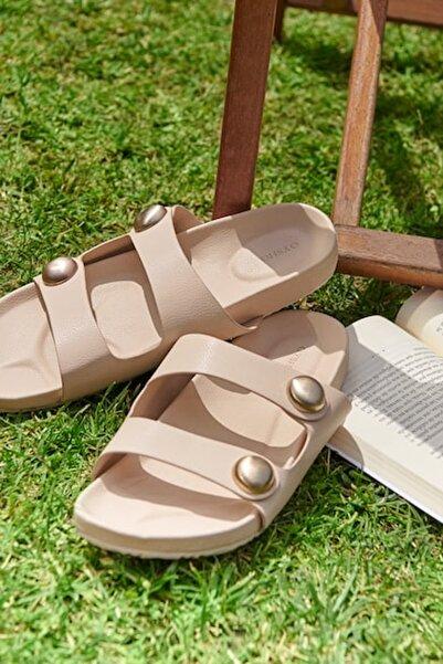 Oysho Kadın Çıplak Metal Aplikeli Sandalet