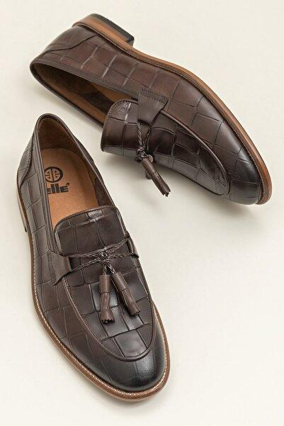 Elle Shoes ALLON Hakiki Deri Kahverengi Erkek Ayakkabı