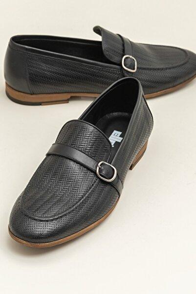 Elle Shoes BOLAND Hakiki Deri Siyah Erkek Ayakkabı