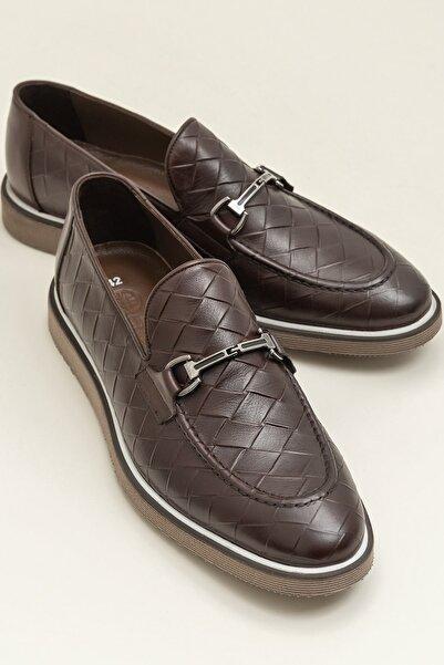 Elle Shoes HARLAND Hakiki Deri Kahverengi Erkek Ayakkabı