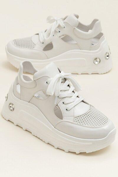 GURO Beyaz Kombın Kadın Casual Ayakkabı