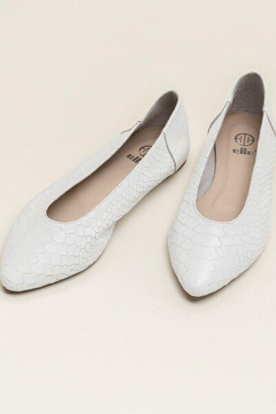 Elle Shoes Hakiki Deri Ackerr Beyaz Kadın Babet 20Yfm3885025
