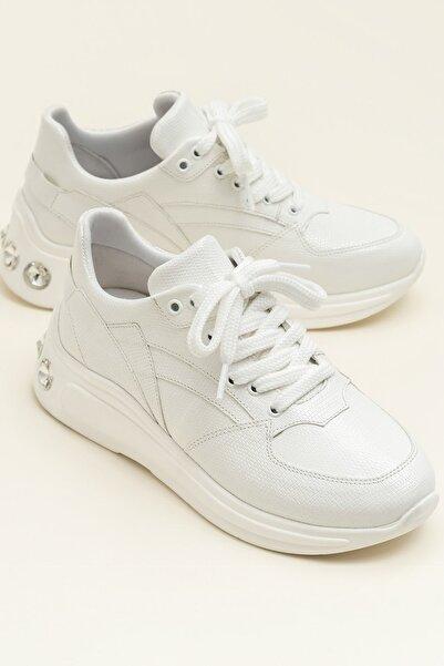 Elle Shoes Elın Beyaz Kadın Sneaker 20Ysdp-4-5