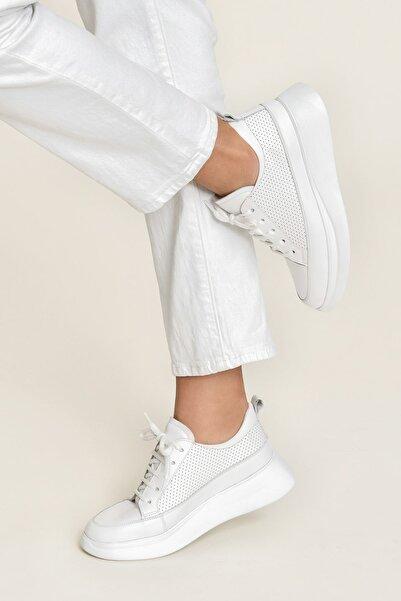 Elle Shoes FANCY Beyaz/Beyaz Kadın  Sneaker 20YSE192404