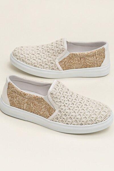 Elle Shoes NEHA Naturel Kombin Sneaker 20YMA901