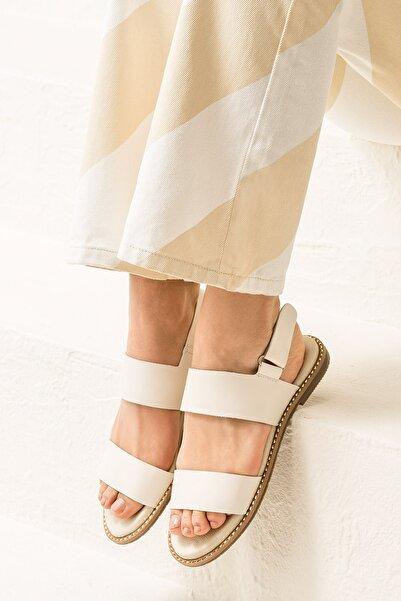 Elle Shoes LARHONDA Ecru Sandalet 20YRE4650