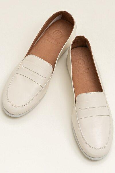 Elle Shoes ANJEL Ecru Kadın  20YES1980