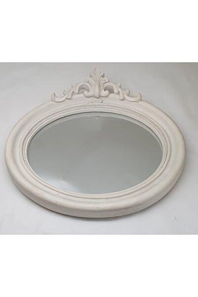 Lucky Art Beyaz Ahşap Ayna