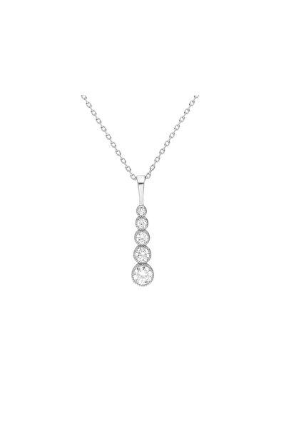 Tesbihane Damla Tasarım Zirkon Taşlı Silver Renk Üretildiği Malzeme : 925 Ayar Gümüş Kadın Kolye 103000805