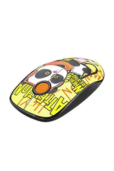 Trust 23337 Sketch Sessiz Click Kablosuz Sarı Desenli Mouse