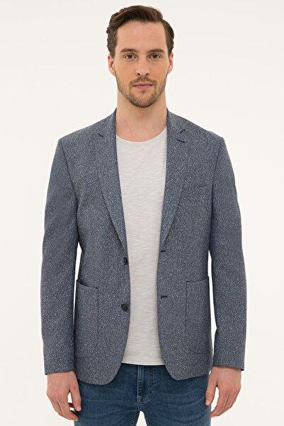 Pierre Cardin Erkek Koyu Mavi Slim Fit Ceket