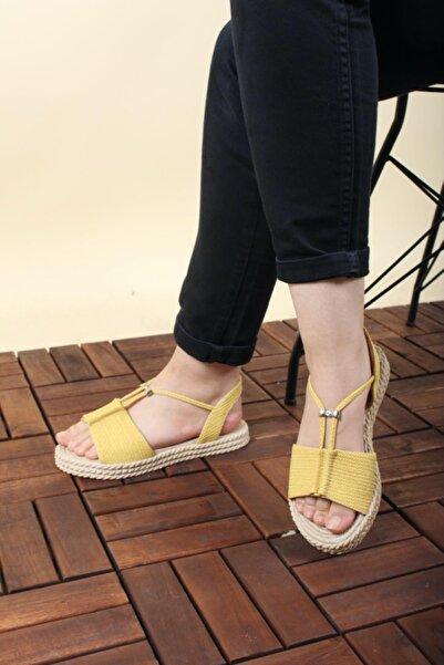 Oksit Florin Taş Detaylı Kadın Sandalet