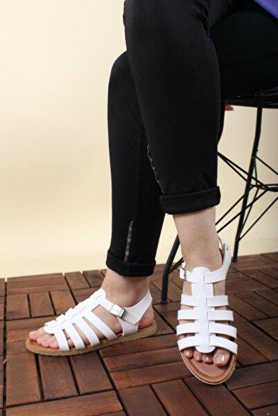 Oksit Vina Kadın Suni Deri Kadın Sandalet