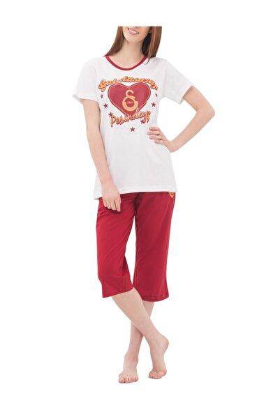 GSStore Kadın Kırmızı Beyaz Lisanslı Pijama Takım  4675