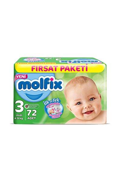 Molfix Bebek Bezi 3 Beden Maxi Fırsat Paketi 72 adet