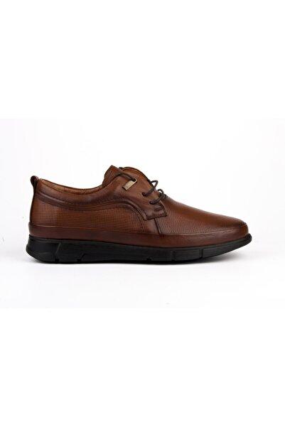 MARCOMEN Günlük Taba Hakiki Deri Bağcık Detaylı Ayakkabı