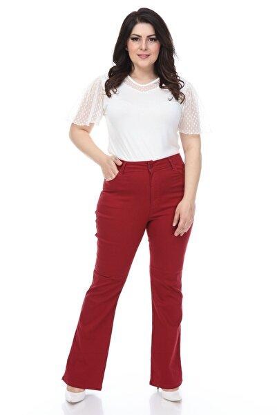Modayız Bordo Likralı Pantolon 16a-1074