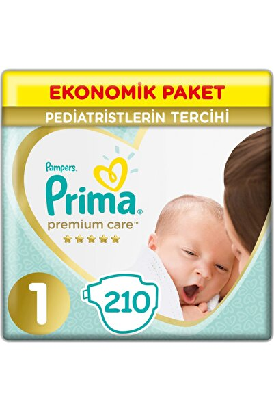Prima Premium Care Bebek Bezi 1 Beden Yenidoğan 2-5 Kg (3*70) 210 Adet