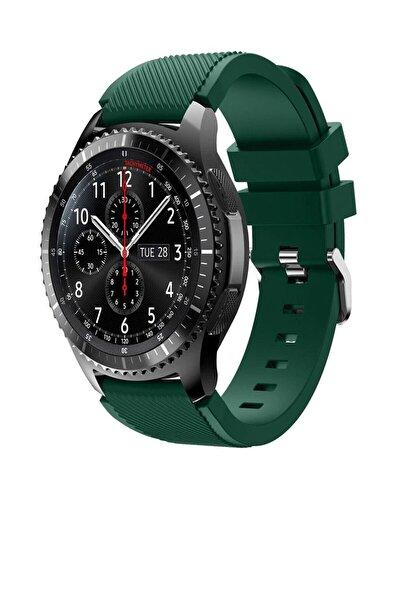 TahTicMer Huawei Watch Gt 46mm Sport Kordon Silikon Koyu Yeşil