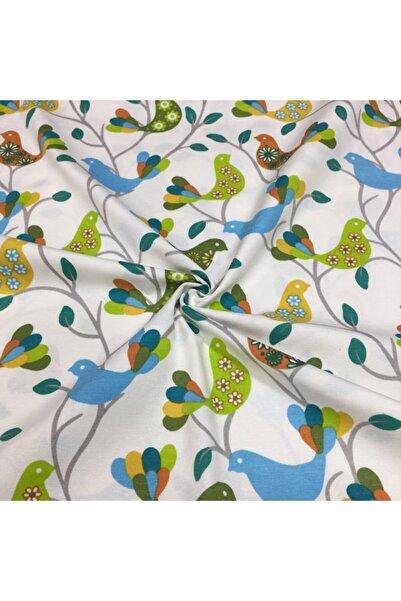 Yuka Yu & Ka Home Renkli Kuşlar 2 Desenli Duck Kumaşı