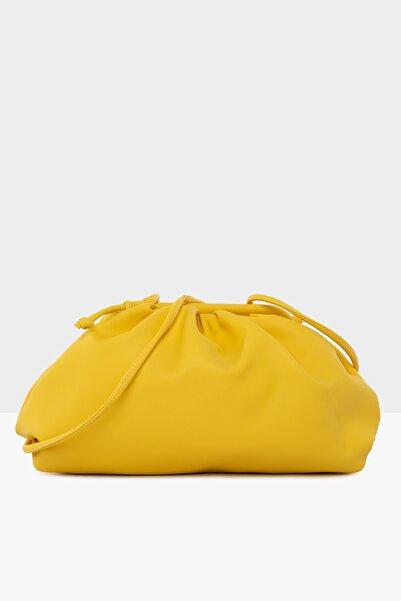 Bagmori Sarı Kadın Burslu Büyük Bohça Çanta M000004073