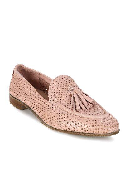 Erdoğan Deniz shoes & accessories Elena Pudra Deri Babet