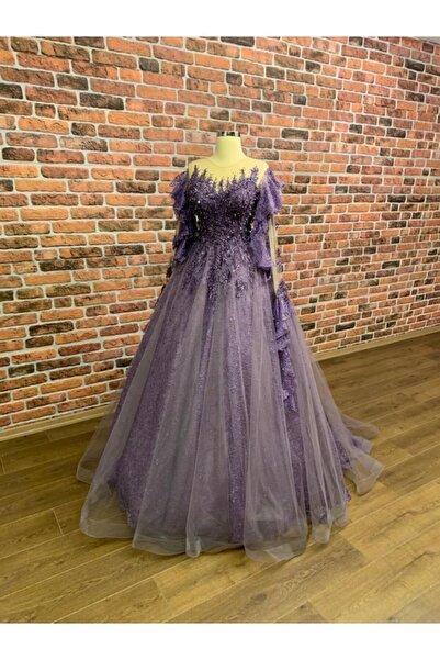 Womentic Bridal Mor Işıltılı Simli Nişanlık