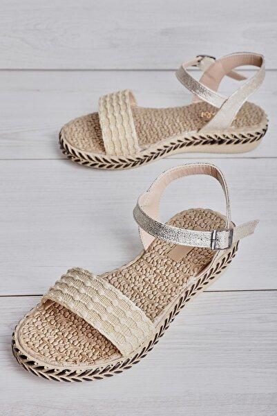 Bambi Altın Kadın Sandalet L08231319