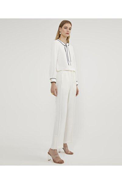 Aker Kadın Ekru Fermuarlı Pantolon V35710124