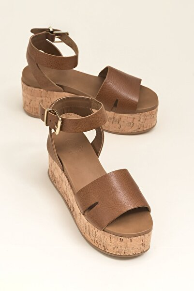 Elle Shoes TONJE Taba Sandalet 20YLT451014