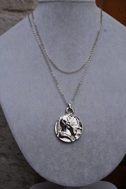 Stoneage Kadın Gümüş Kaplama Kolye