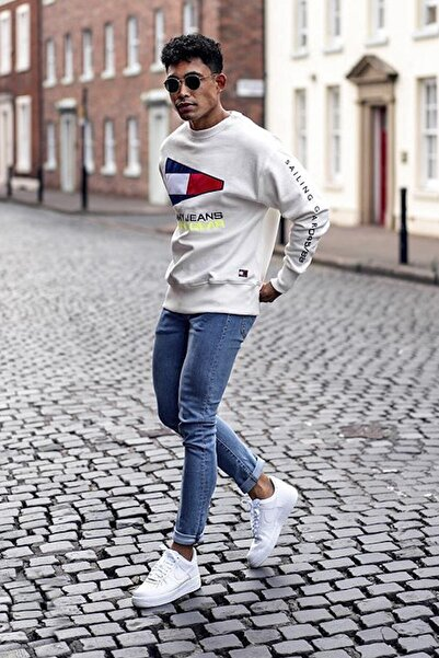 PHILIPLOREN Mavi Bilek Boy Likralı Skinny Fit Kot Pantolon - Bl11393r01