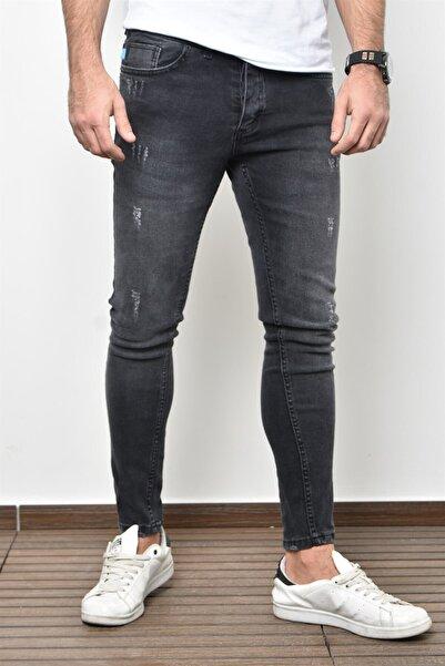 PHILIPLOREN Antrasit Bilek Boy Tintli Likralı Skinny Fit Kot Pantolon - Bl11395r01