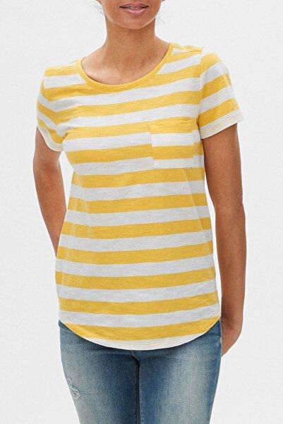 GAP Kız Çocuk Çizgili Kısa Kollu T-Shirt 551339