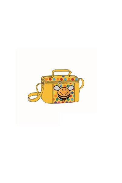 Trendix Unisex Çocuk Sarı Smiley Arı Desenli Beslenme Çantası