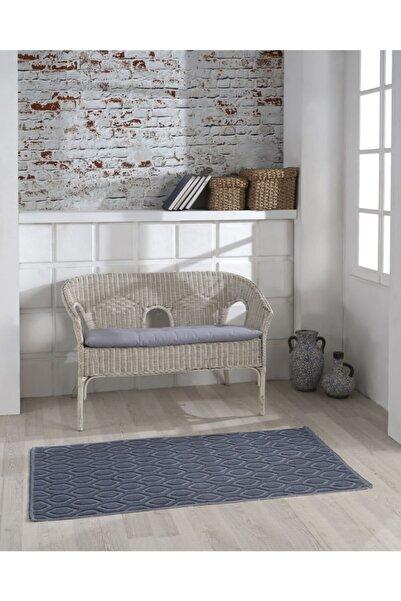 Sesli Home Pamuklu Kabartmalı Bukle Kilim 120x180 Lacivert Damla & Bukle Halı & Kilim