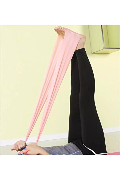 Leyaton Pilates Bandı Jimnastik Plates Lastiği 90x15 cm Egzersiz Aerobik Bant 1 Adet Pembe