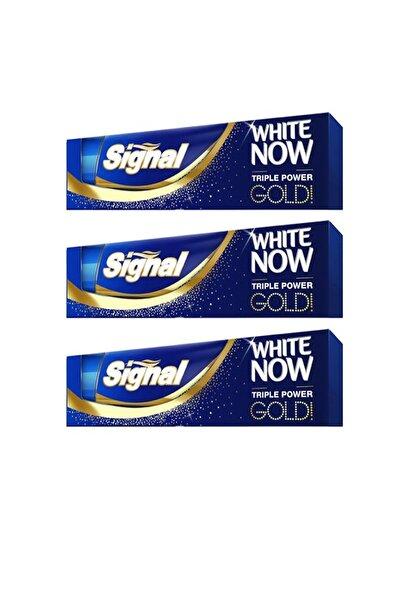 Signal White Now Gold Diş Macunu 75 ml X 3 Adet