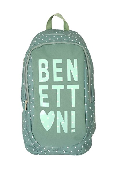 Benetton Okul Sırt Çantası Su Yeşili 95007
