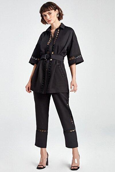 Kadın Siyah Brode Havuç Pantolon N20Y-3202-0002