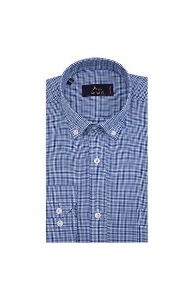 Erkek Orta-Mavi Uzun Kollu Gömlek - 1Gm91Uk1265R 567